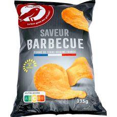 AUCHAN Chips saveur barbecue 135g