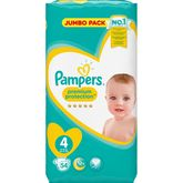 Pampers premium protection value+ 9/14kg x54 taille 4