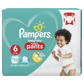 Pampers baby dry pants geant 15kg+ x32 taille 6