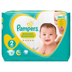 PAMPERS Pampers Premium protection couches taille 2 (4-8 kg) x31 31 couches
