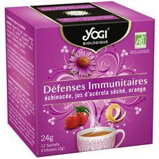 YOGI Infusion bio défenses immunitaires 12 sachets 24g