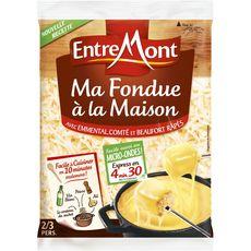 ENTREMONT Entremont râpé pour fondue recette savoyarde 400g