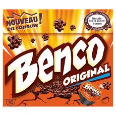 Benco Capsules de chocolat au lait compatibles Dolce Gusto X16-256g