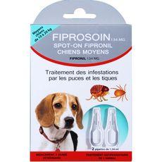 Fiprosoin pipette antiparasitaire moyen chien x2 -3g