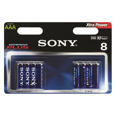 SONY Piles Stamina Plus AM4 x8 - Batterie photo