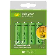 GP Recyko + - Lot de 4 piles AA