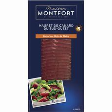 MONTFORT Magret de canard fumé IGP 4 pièces 80g