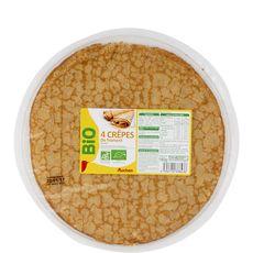 Auchan crêpe sucrée bio x4 -160g