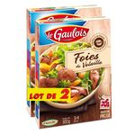 Le Gaulois foie de volaille cuit dans la graisse 2x300g