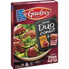 LE GAULOIS Le Gaulois Duo confit foies et gésiers de volaille 300g 3 à 4 personnes 300g