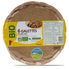 Auchan bio galette de blé noir x6 -300g