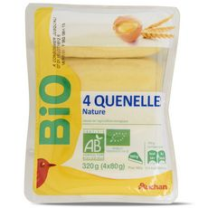Auchan bio quenelles x4 -320g