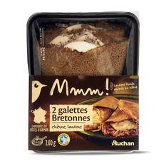 Gourmet AUCHAN MMM! Galette bretonne aux chèvre et lardons