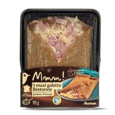 Gourmet AUCHAN MMM! Maxi galette bretonne au jambon et à l'emmental