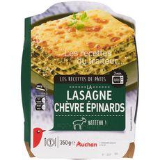 Auchan lasagnes au chèvre et épinards 350