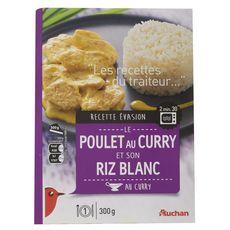 Auchan poulet au curry et riz 300g