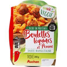 Auchan boulette légumes penne 280g