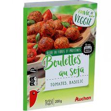 Auchan veggie boulette de soja à la tomate 200g