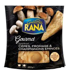 RANA Grand ravioli aux cèpes et aux champignons émincés 2 portions 250g