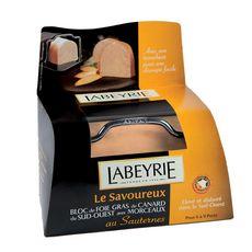 LABEYRIE Bloc de foie gras avec morceaux de canard du Sud-Ouest Sauternes + lyre 6/9 parts 300g