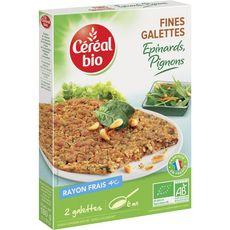 Céréal Bio galette épinard 180g
