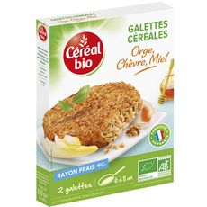 Céréal Bio galette orge chèvre miel 200g