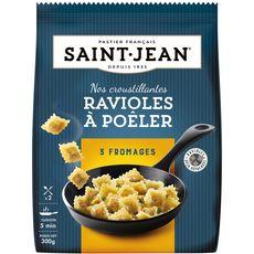 SAINT JEAN Ravioles à poêler aux 3 fromages 2 portions 300g