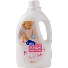 Auchan Baby lessive liquide peaux sensibles 1,5l