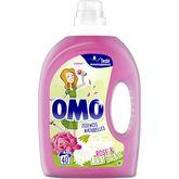 Omo lessive diluée fleurs des tropiques 40 lavages 2l