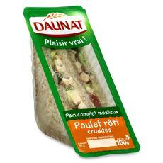 Daunat Sandwich club classique au poulet 160g