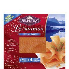 Delpeyrat saumon fumé de Norvège x16 -520g dont 4 offertes