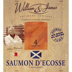 WILLIAM JAMES William James saumon fumé d'écosse tranche x4 -100g