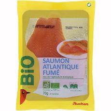 Auchan saumon fumé bio x2 - 70g
