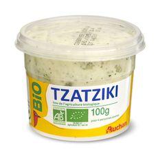 AUCHAN BIO Auchan Tzatziki bio 100g 4 personnes 100g