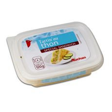 AUCHAN Tartinable au thon spécial sandwich 4 personnes 120g