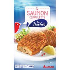 Auchan hâché de saumon x6 -600g