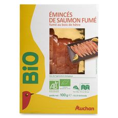 Auchan Émincé de saumon fumé bio 100g