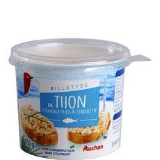 Auchan Rillettes de thon fromage et ciboulette 150g
