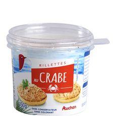 Auchan rillette au crabe 150g