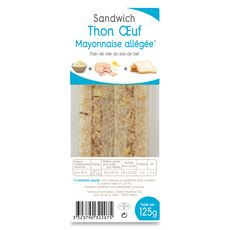 Sandwich thon oeuf et mayonnaise 125g