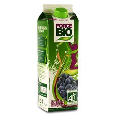 Force Bio pur jus de raisin 1l