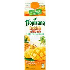Tropicana jus de fruits cocktail du monde tropical 1l