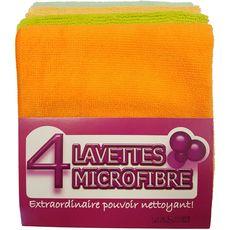 Lavettes microfobre x4 4 lavettes
