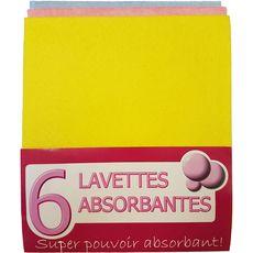 Lavettes absorbantes 3 couleurs x3 3 lavettes