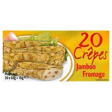 Crêpe au jambon et au fromage 20 pièces 1kg