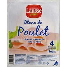 LES SALAISONS LAUSSE Blanc de poulet doré au four 4 tranches 180g