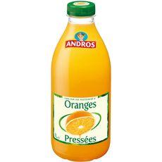Andros Pur jus d'oranges pressées avec pulpe 1L