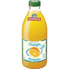 Andros Pur jus d'oranges sans pulpe 1L