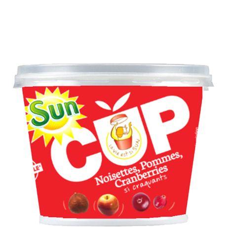 SUN Mélange Pomme Cranberries Noisettes Suncup 120 g - Lot de 7