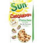 SUN Pistache Coque Sel & Poivre Croqandises 250 g